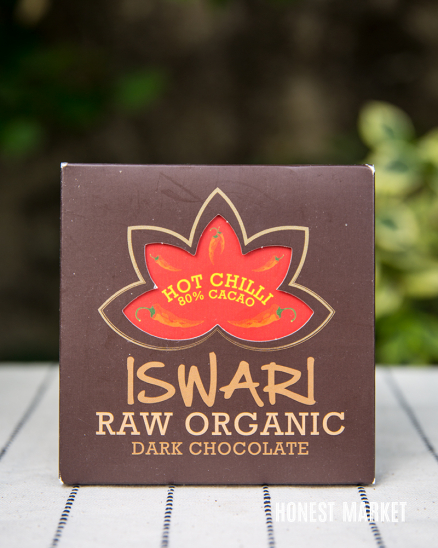 Čokoláda RAW vegan 80% kakao hot chilli BIO 75g