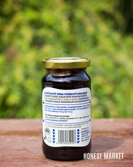 Bioláda borůvka 230g