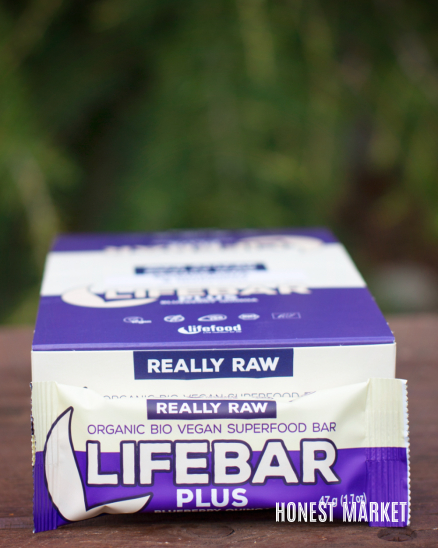 Lifebar Plus tyčinka borůvková s quinoou BIO RAW 47g