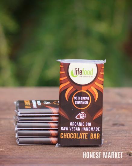 Čokoláda mini RAW BIO 95% kakao se skořicí 15g