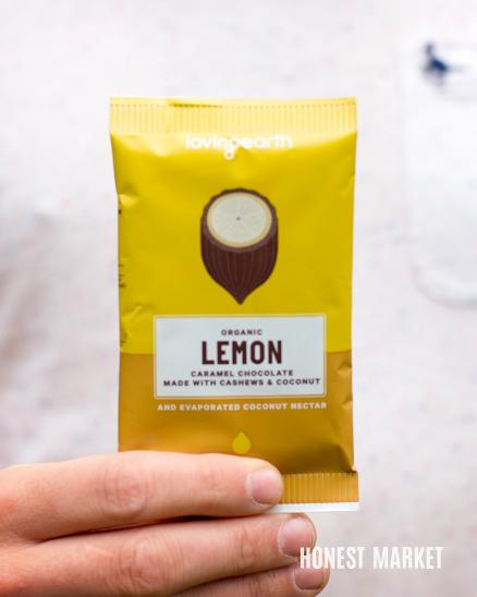 Veganská citrónová raw čokoláda BIO 30g
