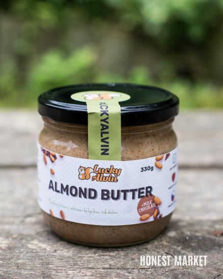 Mandlové máslo s mléčnou čokoládou 330g