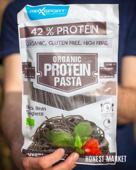 Proteinové těstoviny černé fazole 200g