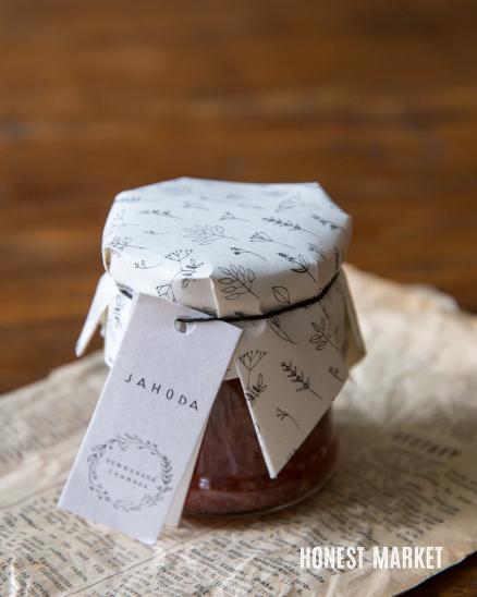 Domácí jahodová marmeláda, 230g